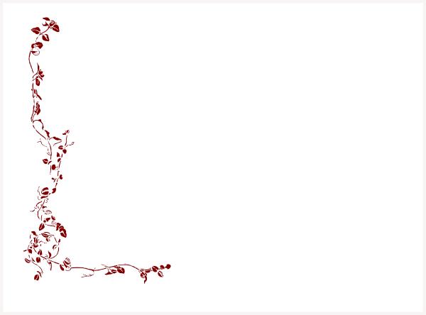 Burgundy Roses Clip Art.