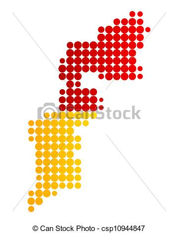 EPS Vector of Map and flag of Burgenland csp10944847.