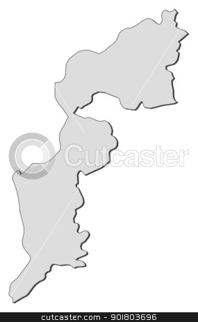 Map of Burgenland (Austria) stock vector.