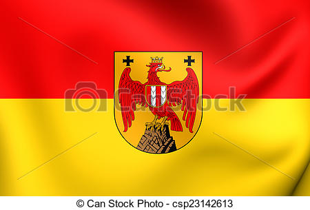 Clipart of Flag of Burgenland, Austria. Close Up. csp23142613.