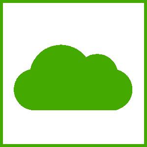 Eco Green Cloud Icon Clip Art Download.