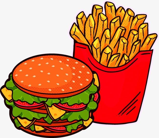 1741 Burger free clipart.