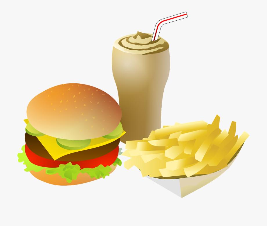 Hamburger And Fries Clipart.