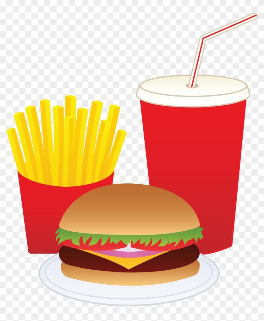 Hamburger Fries And A Drink Free Clip Art.