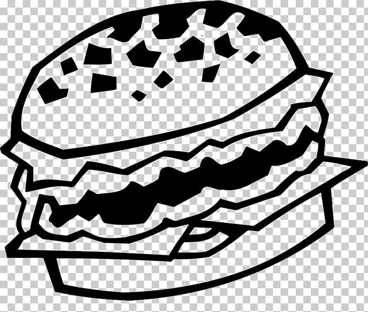 Hamburger Black and white, Burger, burger sandwich PNG.