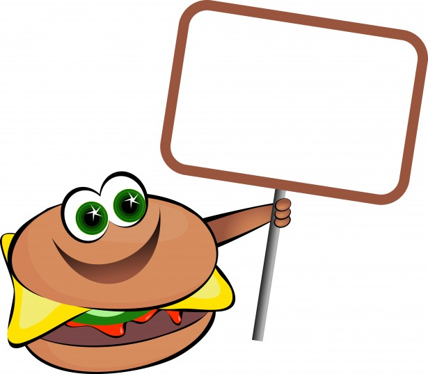 Burger Sign Free Stock Photo.