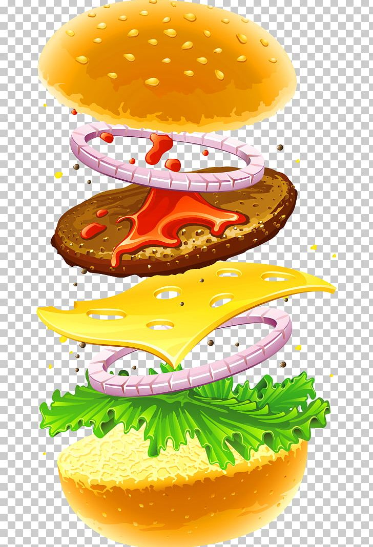 Hamburger Veggie Burger Fast Food Cheeseburger French Fries.