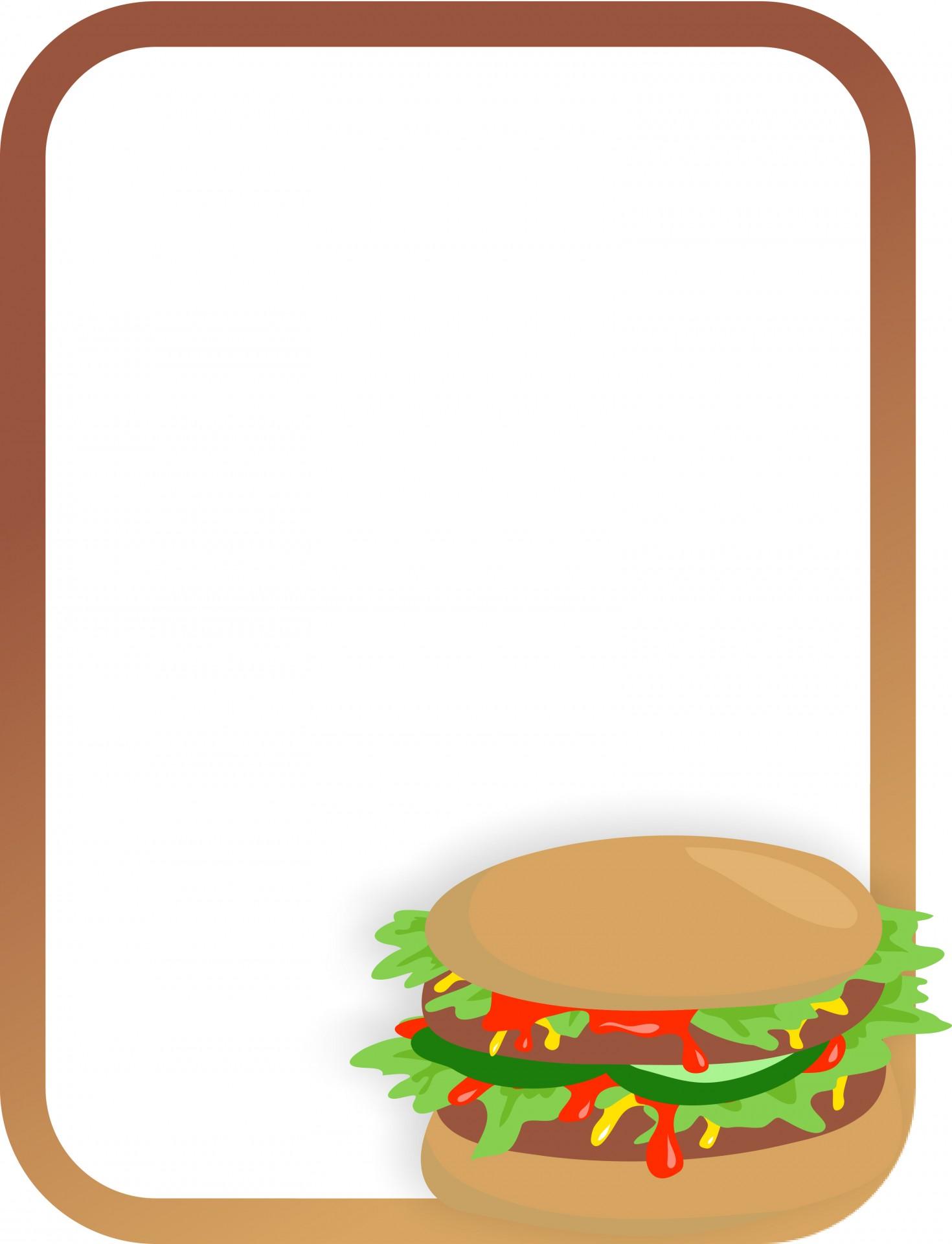 Burger clipart border, Burger border Transparent FREE for.