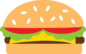 Cheese burger clip art.