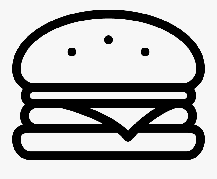 Burger Clipart Black And White , Free Transparent Clipart.