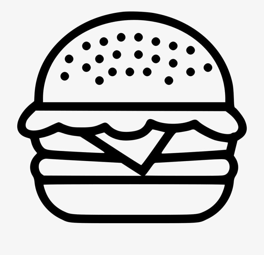 Burger Clipart Outline.