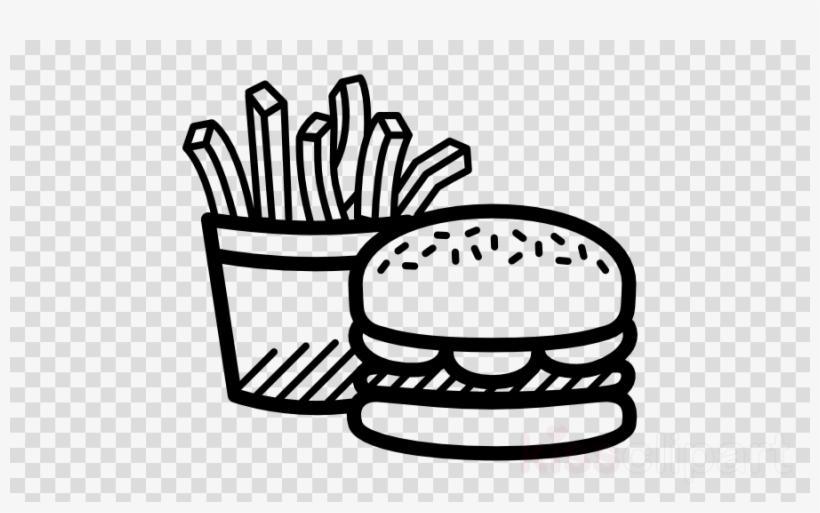 Burger Black And White Png Clipart Hamburger French.