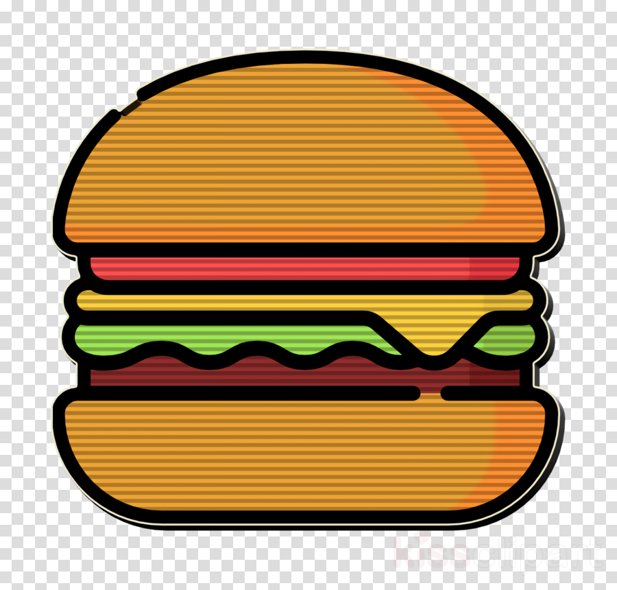 Fast Food icon Food icon Burger icon clipart.