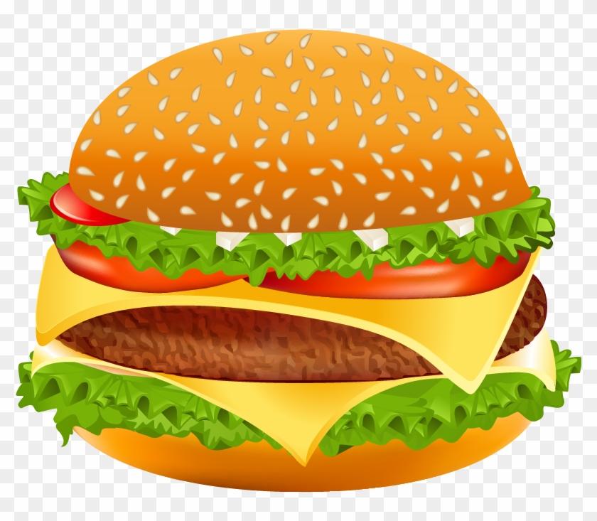 Hamburger Png Vector Clipart Image.