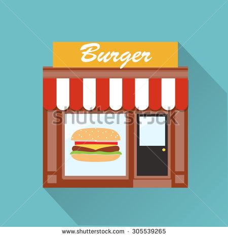 Showing post & media for Cartoon burger shop.