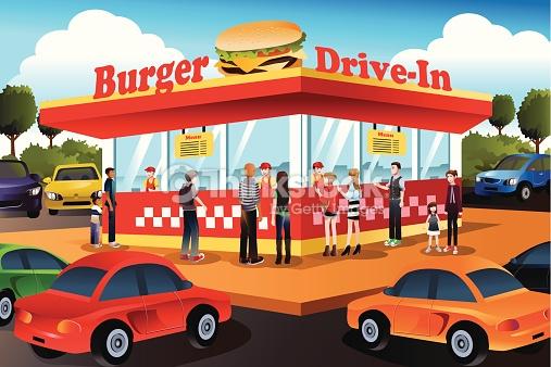 Showing post & media for Burger shop cartoon.