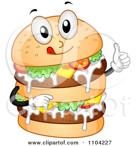 Burger Border Clipart.