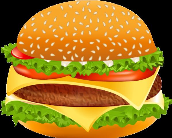 Hamburgers Clipart Color.