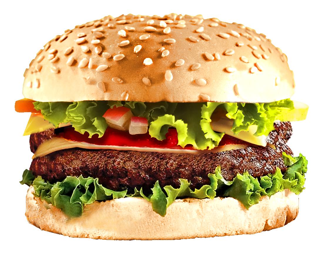 Fast Food Burger PNG Image.