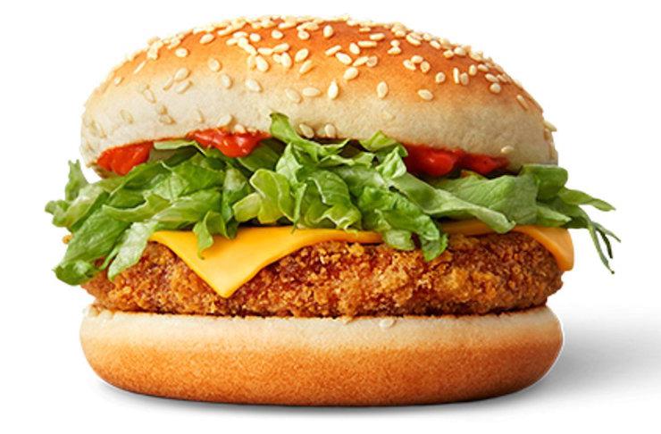 McDonalds Burger PNG Background Image.