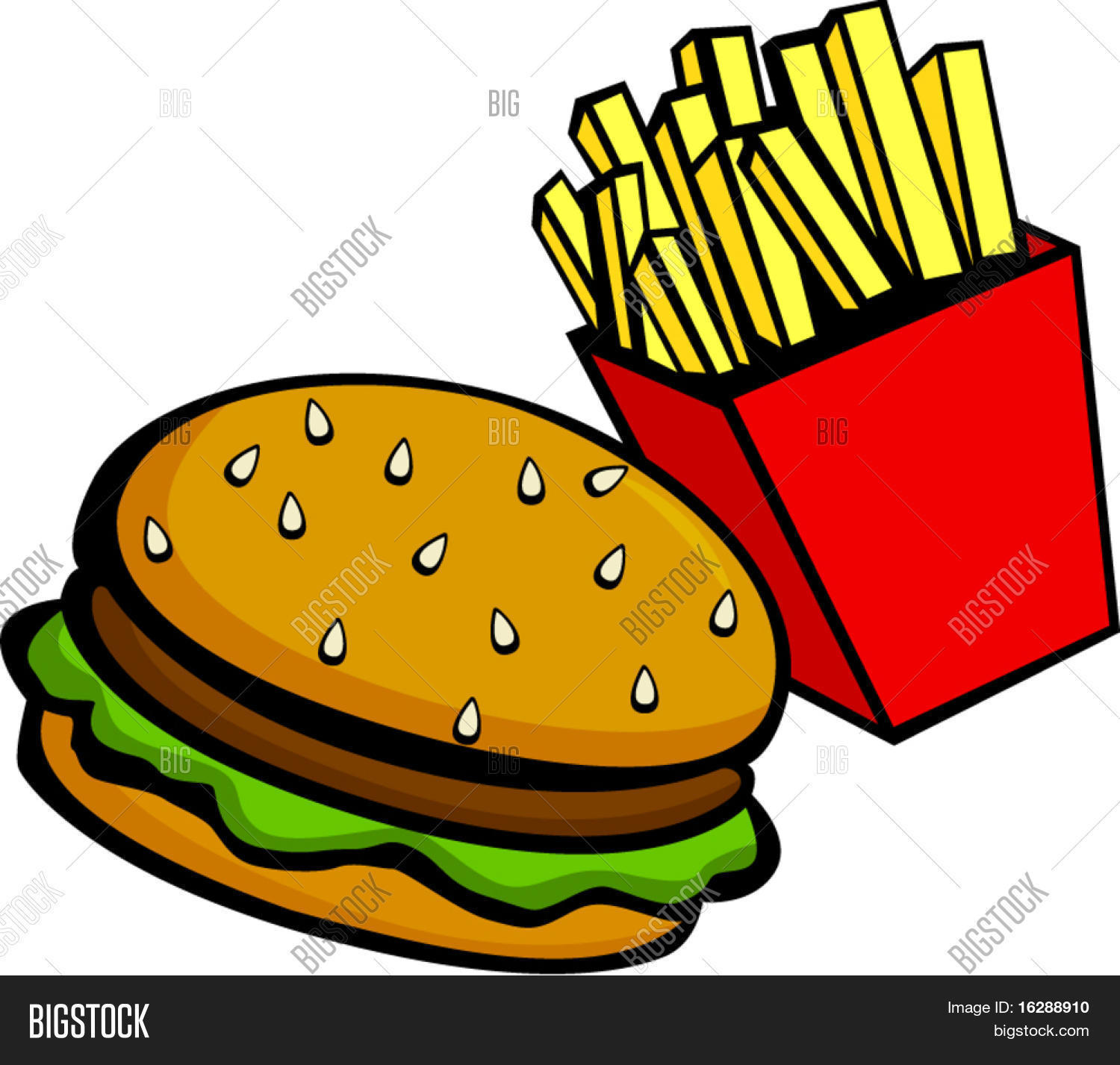 Burger Fries Vector & Photo (Free Trial).