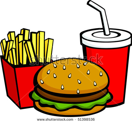 Burger and fries clipart 4 » Clipart Station.