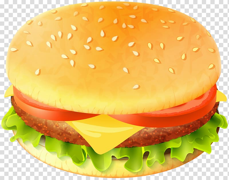 Burger illustration, Hamburger Cheeseburger Whopper Fast food.