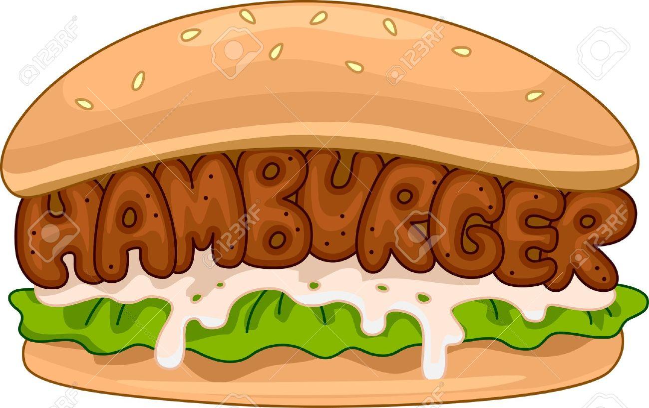 Beef Burgers Clip Art.