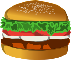 Burger Clip Art at Clker.com.