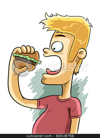 Burger Time stock vector.