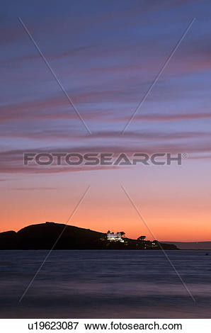 Picture of England, Devon, Bantham Beach. View from Bantham Beach.