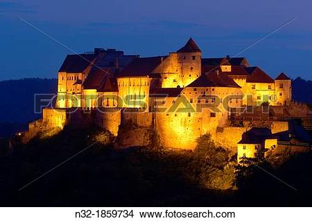 Stock Photo of Burghausen, Castle, Altotting district, Upper.