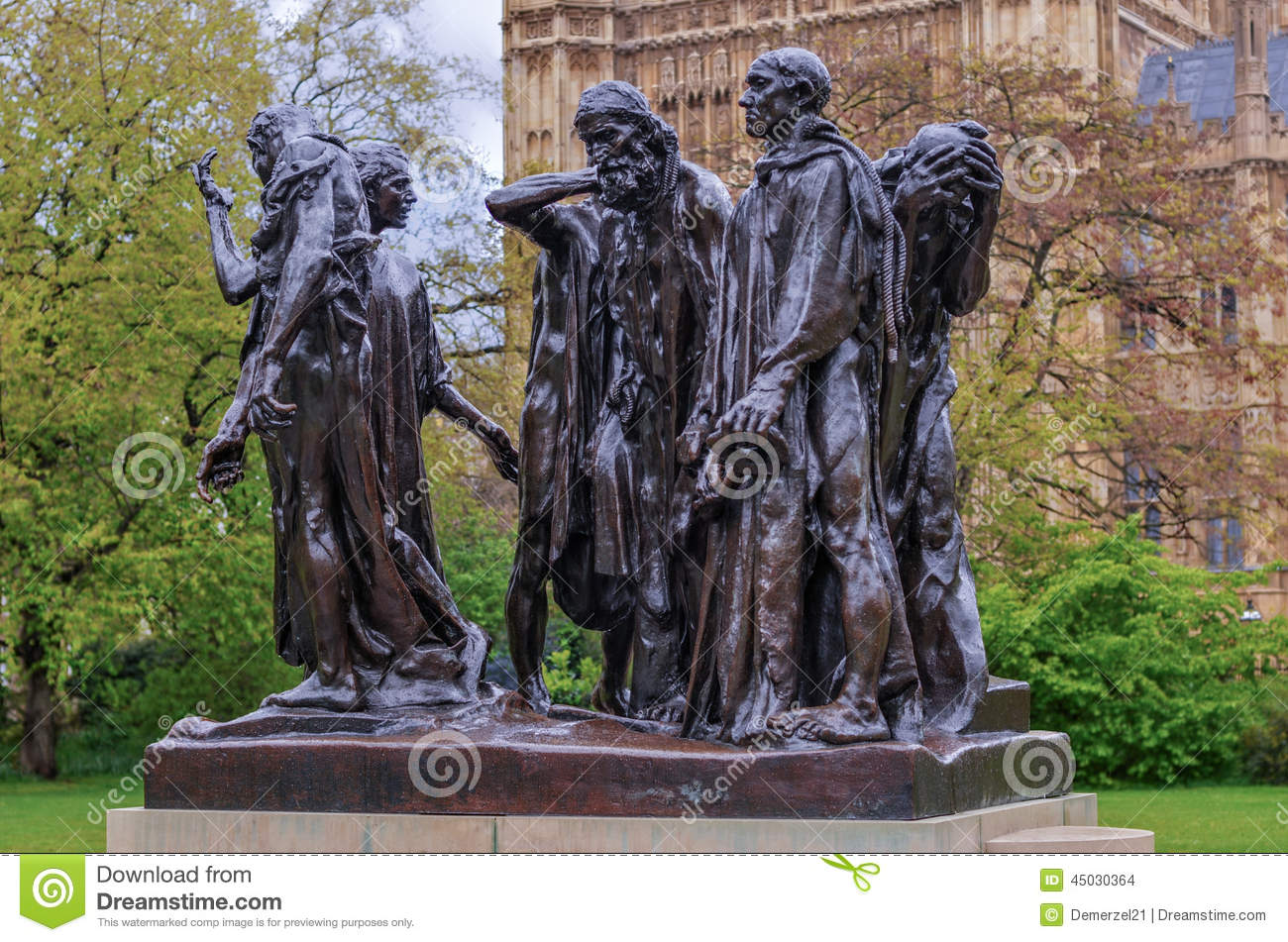 Burghers Of Calais, London, UK Stock Photo.