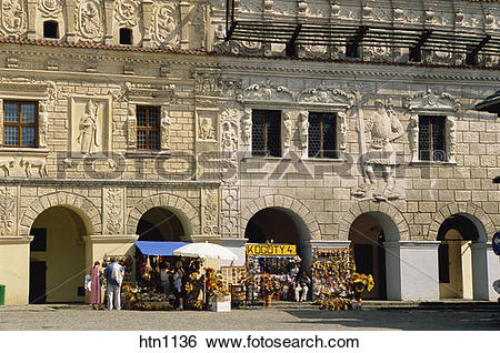Stock Images of Burghers Houses, Old Town, Market Square.
