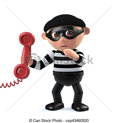 3d Burglar answers the phone.