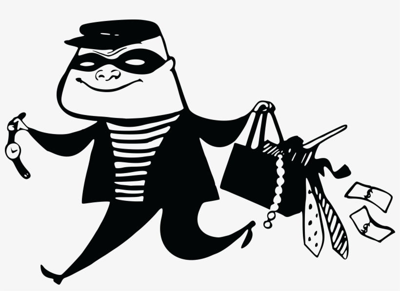 Free Clipart Of A Burglar Running Away.