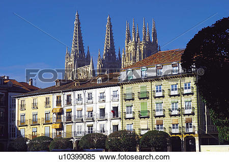 Stock Image of Spain, Castilla leon, Burgos, City, Town, Art.