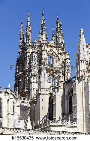 Stock Image of Gothic Dome Burgos Cathedral k15530435.