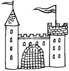 Burg mittelalter clipart.