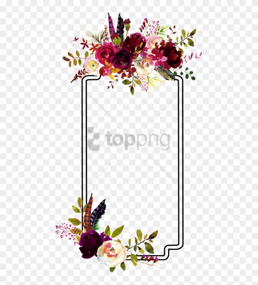Free Png Fashion Flower Border Decoration Vector.