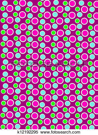 Stock Illustration of Colored Dots on White Dots Burgundy.