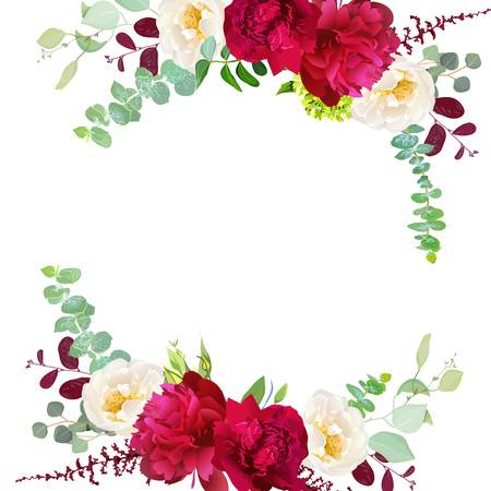 3,207 Burgundy Flower Stock Illustrations, Cliparts And Royalty Free.