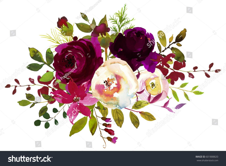 images of burgundy flowers clip art.