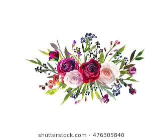 Burgundy flowers clipart 9 » Clipart Station.