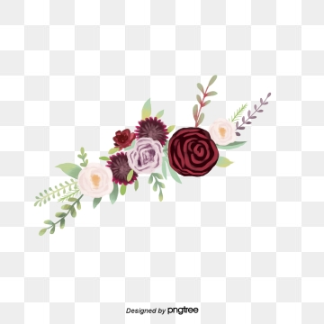 Burgundy Flowers Png, Vector, PSD, and Clipart With Transparent.