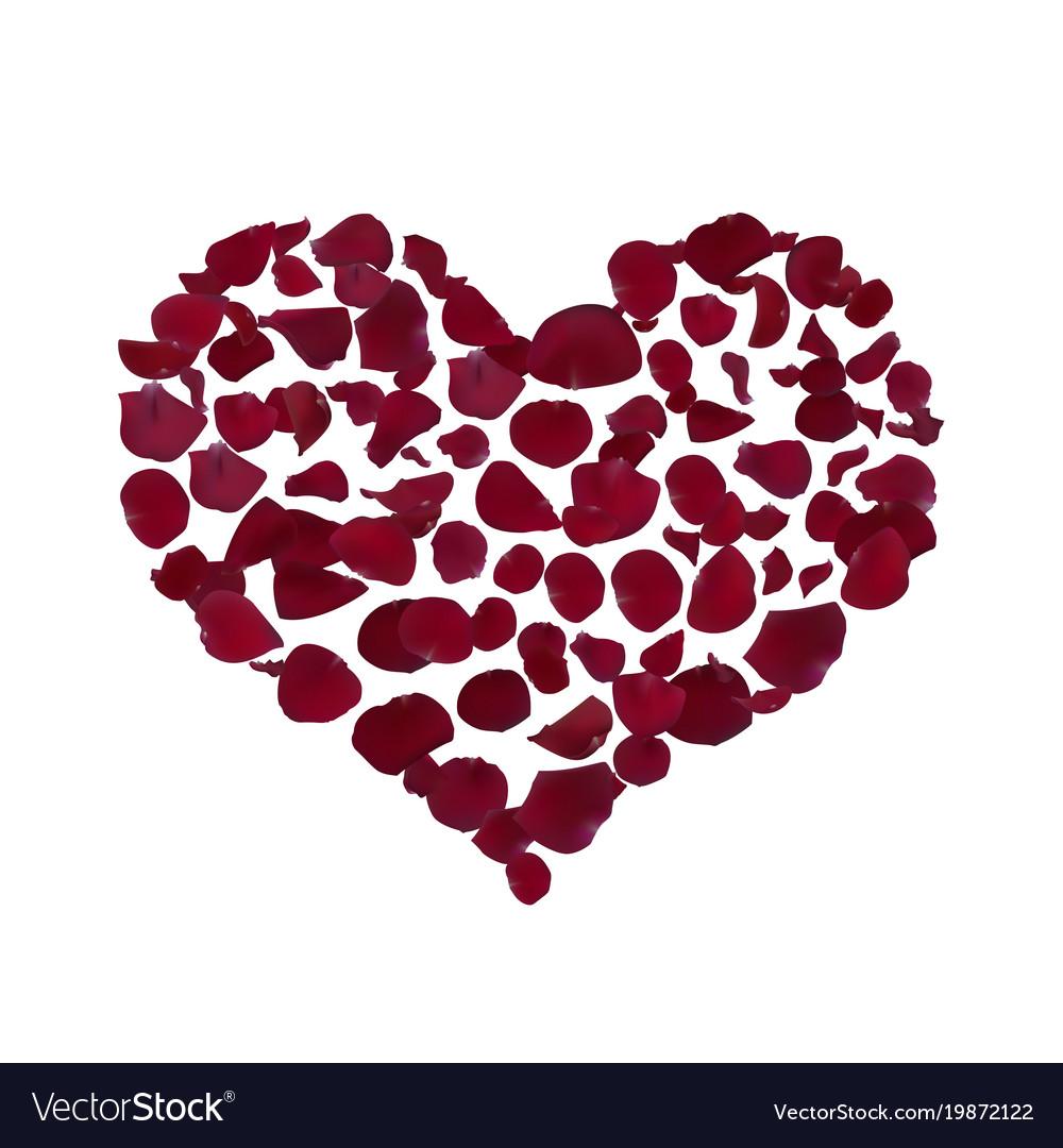 Heart shape burgundy.