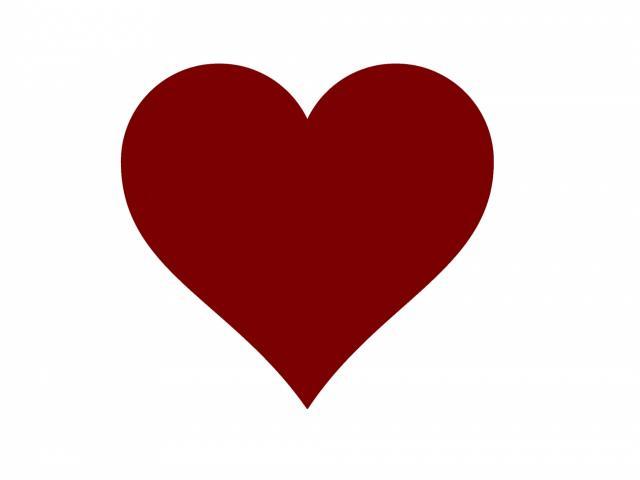 Burgundy Heart Cliparts 2.