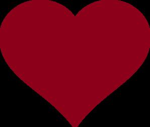 Burgundy Heart Clip Art at Clker.com.