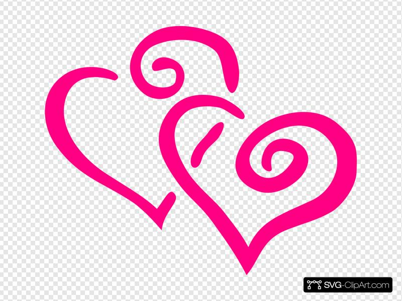 Curly Hearts Clip art, Icon and SVG.