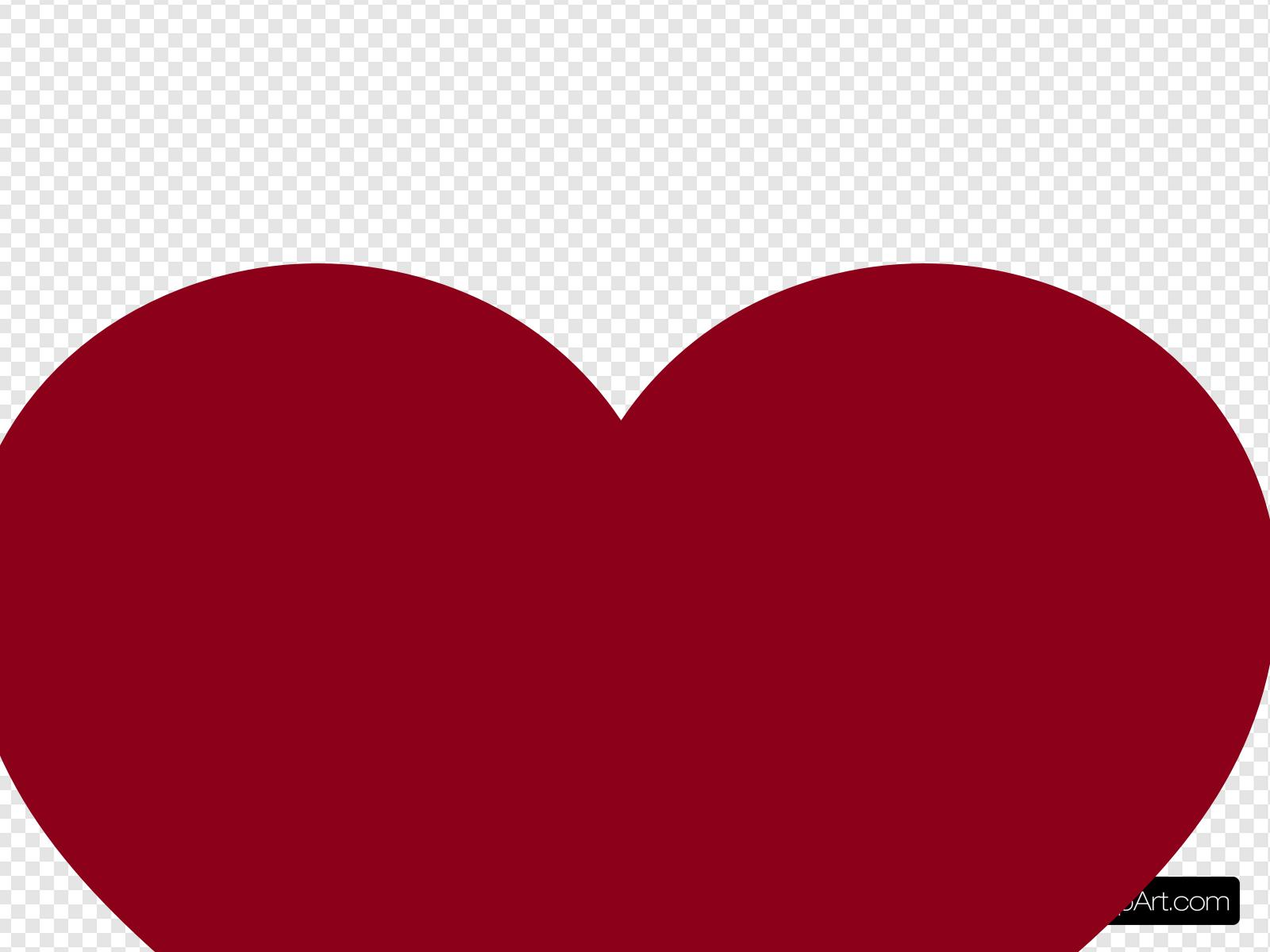 Burgundy Heart Clip art, Icon and SVG.